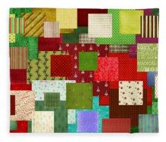 Christmas Quilt Fleece Blanket