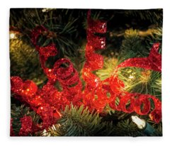 Christmas Red Fleece Blanket