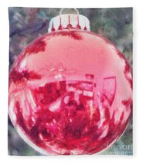 Christmas Reflected Fleece Blanket