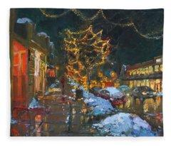 Christmas Reflections Fleece Blanket
