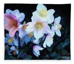 Christmas Rose Fleece Blanket