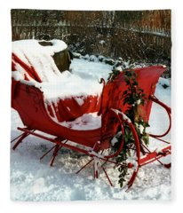 Christmas Sleigh Fleece Blanket