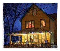 Christmas Story House Fleece Blanket
