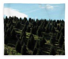 Christmas Tree Farm Fleece Blanket