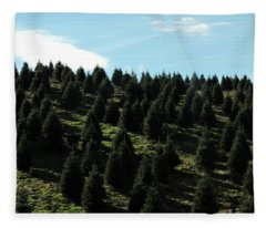 Christmas Tree Farm Fleece Blanket