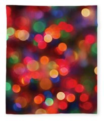 Christmas Tree Lights 2 Fleece Blanket