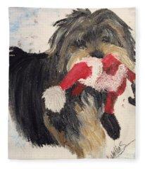 Christmas Yorkie Fleece Blanket