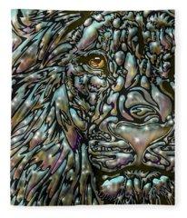 Chrome Lion Fleece Blanket