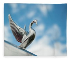 Chrome Swan Fleece Blanket