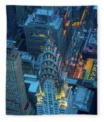 Chrysler Building Fleece Blanket