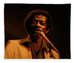 Chuck Berry Gold Fleece Blanket