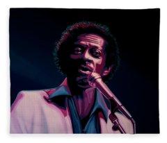 Chuck Berry Fleece Blanket