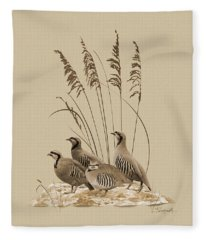 Chukar Partridges Fleece Blanket