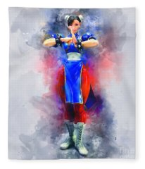 Chun Li Fleece Blanket
