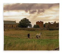 Church And Priory Fleece Blanket