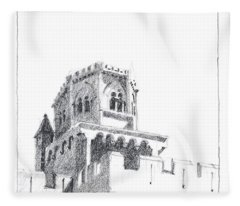 Church At Chamalieres Fleece Blanket