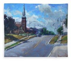 Church In Georgetown Downtown  Fleece Blanket