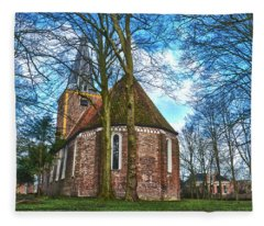 Church In Winsum Fleece Blanket