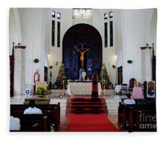 Church Of San Felipe Fleece Blanket