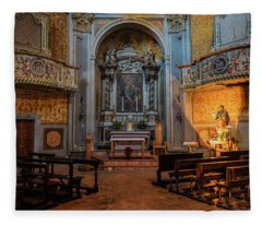 Church Of San Giuseppe Del Duomo Orvieto Italy Fleece Blanket