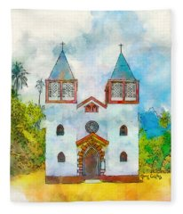 Church Of The Holy Family Fleece Blanket