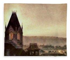 Church Steeple 4 For Cup Fleece Blanket