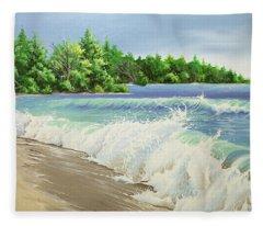 Churning Sand  Fleece Blanket