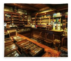 Cigar Shop Fleece Blanket