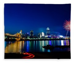 Cincinnati Boom Fleece Blanket