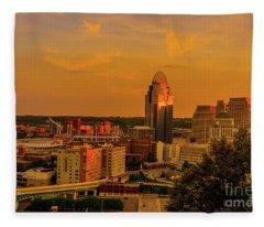 Cincinnati Golden Fleece Blanket