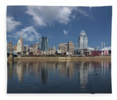 Cincinnati Ohio 2017 Fleece Blanket