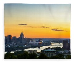 Cincinnati Sunrise II Fleece Blanket