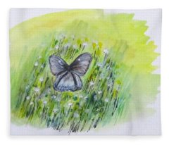 Cindy's Butterfly Fleece Blanket