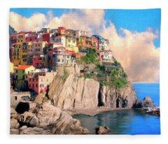 Cinque Terre Fleece Blanket