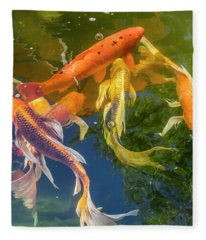 Circle Of Koi Fleece Blanket