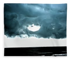 Circle Of Storm Clouds Fleece Blanket