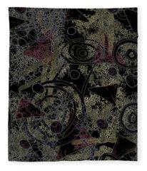 Circles In Black Fleece Blanket