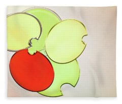 Circles Of Red, Yellow And Green Fleece Blanket