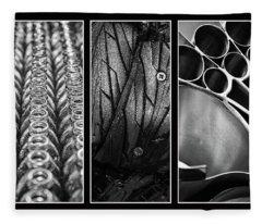 Circles Triptych Fleece Blanket