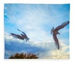 Circling Wings  Fleece Blanket