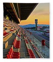 Circuit De Catalunya - Barcelona  Fleece Blanket