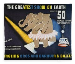 Circus Poster, 1942 Fleece Blanket