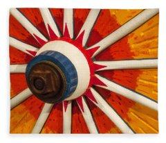 Circus Wagon Wheel Fleece Blanket
