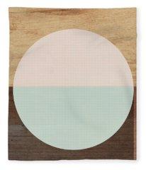 Cirkel In Peach And Mint- Art By Linda Woods Fleece Blanket