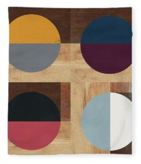 Cirkel Quad- Art By Linda Woods Fleece Blanket