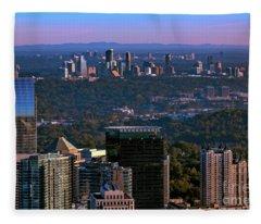 Cities Of Atlanta Fleece Blanket