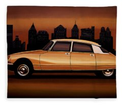 Citroen Ds 1955 Painting Fleece Blanket