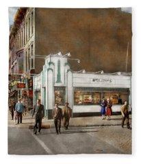 City - Amsterdam Ny - Hamburgers 5 Cents 1941 Fleece Blanket