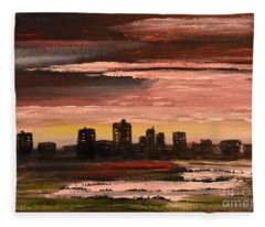 City At Night Fleece Blanket