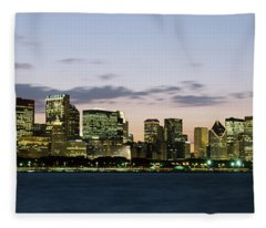 City At The Waterfront, Chicago Fleece Blanket